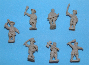 Korean Infantry With Swords And Axes