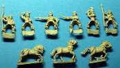Mounted Cossacks With Melee Weapons