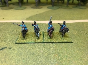 Prussian Dragoons Charging With Command