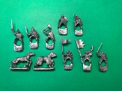Mounted Knights of Illyria w/Banners & Melee Weapons