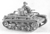 T26 Mi931Tu Twin Turrets MG and 37mm with Radio Antenna Lt. Tank