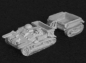 UE Armored Tractor With Tracked Trailer and TC Figures