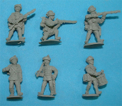 1859/66 Austrian Volunteer Infantry Defending
