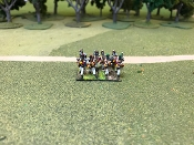 British Flank Company Advancing