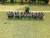British Light Infantry Advancing with Cmd