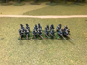 French Light Infantry Charging In Full Dress