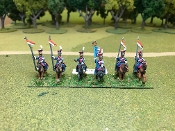 French Guard Lancers with Lances