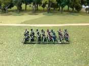 French Light Infantry Skirmishing In Full Dress