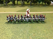Spanish Regular Infantry Advancing With Command
