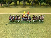 Portugese Line Infantry Advancing With Command