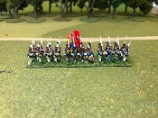 Portugese Line Infantry March Attack With Command