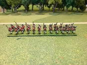 British Line Advancing