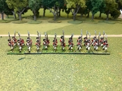 British Line March Attack